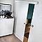 Porte coulissante prépeinte blanche 73 cm