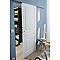 Porte coulissante 3 panneaux 83 cm