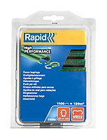 Agrafes grillage Rapid VR22 plastifiées vert