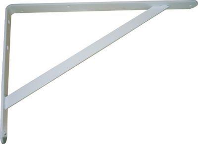 equerre lourde charge acier poxy blanc 25 x 40 cm castorama. Black Bedroom Furniture Sets. Home Design Ideas