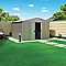 Abri de jardin métal Blooma Malahide, 7,90 m² ép.0,3 mm