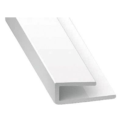 profil de finition pvc blanc 1 m castorama. Black Bedroom Furniture Sets. Home Design Ideas