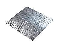 Tôle aluminium brut grain de riz Ep. 1,6 mm, 50 x 25 cm