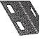 Cornière perforée acier laqué gris martelé 27x27mm,1 m