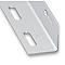 Cornière perforée acier galvanisé 38 x 38 mm, 1 m