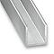 U aluminium brut 20 x 20 X 20 mm, 2,50 m