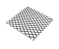 Tôle métal déployé acier brut Maille 10 x 5,5 mm, 100 x 50 cm