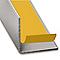 Cornière PVC gris titane auto-adhésive 20x20 mm, 1.30 m