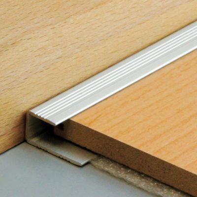 Arr t bord dinac aluminium 1 55 x 270 cm castorama - Seuil de porte pour parquet flottant ...