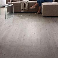 Plinthe sol souple PVC Décor Chêne cérusé 7 x 120 cm
