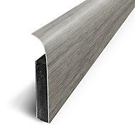 Plinthe sol souple PVC Décor Chêne tailleFer 7 x 120 cm