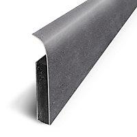 Plinthe sol souple PVC Décor Béton houille 7 x 120 cm