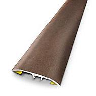 Barre de seuil universelle en métal rouillé 83 x 3,7 cm.