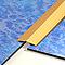 Seuil adhésif 1ER PRIX acier laiton 30/73 cm