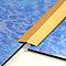 Barre de seuil plat adhesif inox 30x166 cm