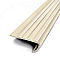 Nez de marche teck a coller PVC beig 43x170 cm