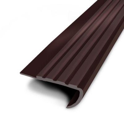nez de marche coller marron 61 34 mm l 1 7 m castorama. Black Bedroom Furniture Sets. Home Design Ideas