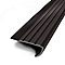 Nez de marche teck a coller PVC Noir 43x170 cm