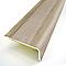 Nez de marche adhésif DINAC aluminium décor chêne 36 x 24/95 cm