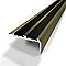 Nez de marche adhésif DINAC aluminium anodisé titium 40 x 20/170 cm