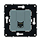 Mécanisme prise multimédia RJ 45 Cat.6 FTP Magnésium Espace