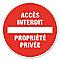 """Disque de signalisation """"Propriété privée"""" Ø17"""
