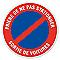 """Disque signalisation """"Sortie de voiture"""" Ø28"""