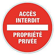 """Disque de signalisation """"Propriété privée"""" Ø28"""