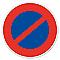 """Disque signalisation """"Stationnement interdit"""""""