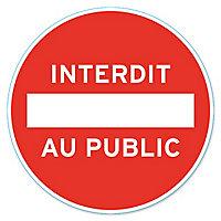 "Disque de signalisation ""Interdit au public"" Ø28"