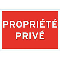 """Panneau de signalisation """"Propriété privée"""""""