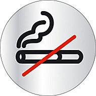 """Disque de signalisation """"Défense de fumer"""" Ø8"""