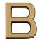 """Lettre dorée """"B"""" en relief"""