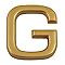 """Lettre dorée """"G"""" en relief"""