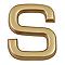 """Lettre dorée """"S"""" en relief"""
