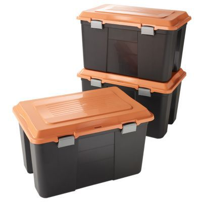 Lot De 3 Campers Bricolage Noir Et Orange Castorama