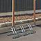 Ratelier au sol pour 3 vélos