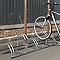 Râtelier au sol pour 5 vélos 2 niveaux