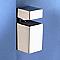 2 consoles cube tablette blanc MOTTEZ 4/19 mm