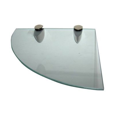 Tablette D Angle Verre Transparent Form 25 Cm Castorama