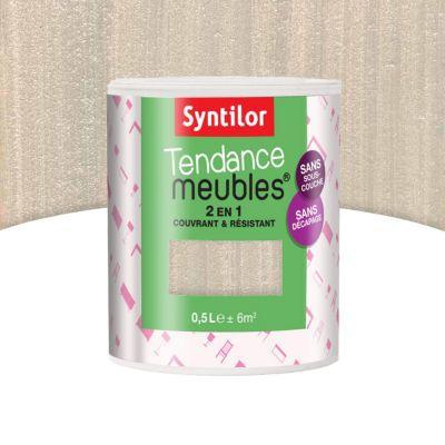 Tendance Meubles Blanc Nacré Pailleté 500 Ml Castorama