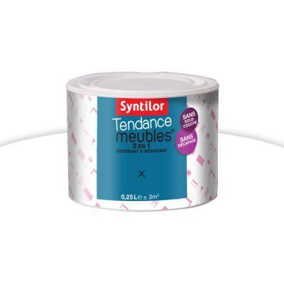 Peinture Syntilor Tendance Meubles Blanc Laqué 025l Castorama