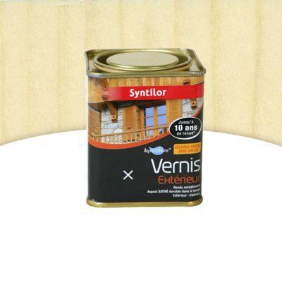 Vernis bois aquar thane int rieur ext rieur syntilor incolore satin 0 25l castorama - Vernis bois incolore ...