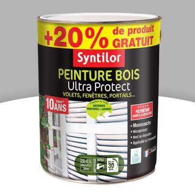 Peinture Bois Extérieur Syntilor Gris Aluminium Satin 25l 20