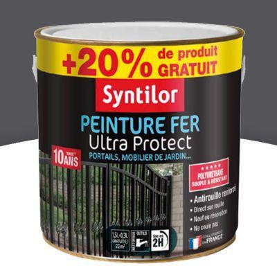 peinture fer syntilor gris ardoise satin 1 5l 20 gratuit castorama. Black Bedroom Furniture Sets. Home Design Ideas