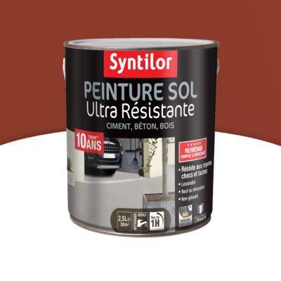 Peinture Sol Syntilor Brique Satin 2 5l Castorama