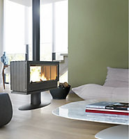 Poêle à bois Invicta Nelson double vision 12 kW