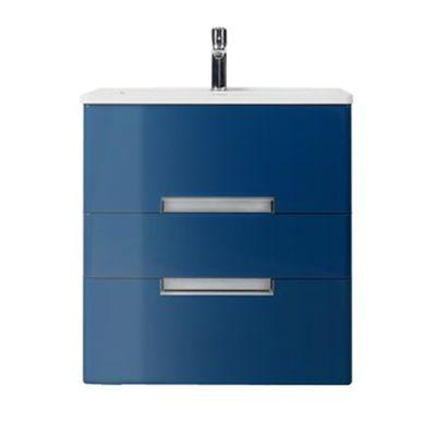 Meuble de salle de bains bleu comète Decotec Belt 60 cm
