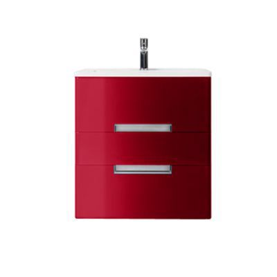 Meuble de salle de bains rouge impérial DECOTEC Belt 60 cm