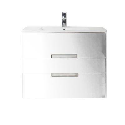Meuble de salle de bains blanc DECOTEC Belt 80 cm